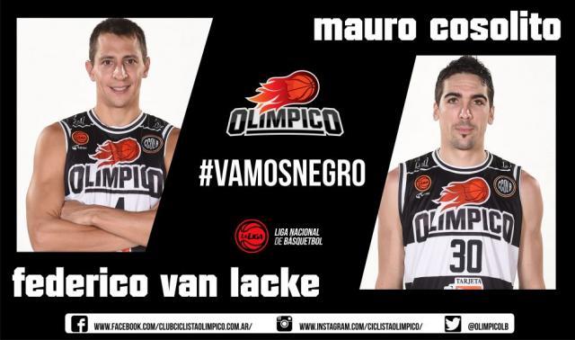 Mauro Cosolito y Fede Van Lacke (Foto: Prensa Olímpico)