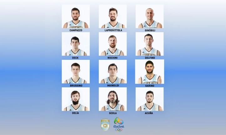 Los 12 argentinos de Río 2016 (Foto: CABB)