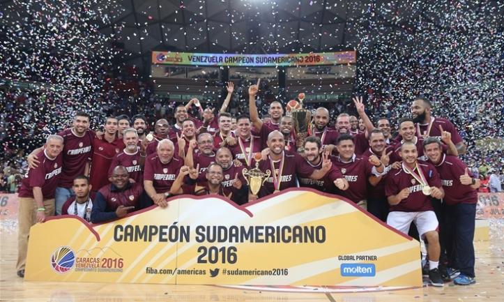 Venezuela, bicampeón del Sudamericano (Foto: FIBA)