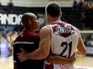 Cheo Ramos y Andrew Feeley (Foto: Prensa Gigantes de Guayana)