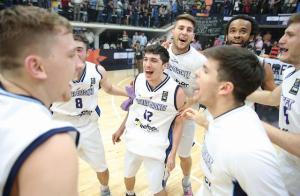 La celebración de Bahía Basket (Foto: FIBA)