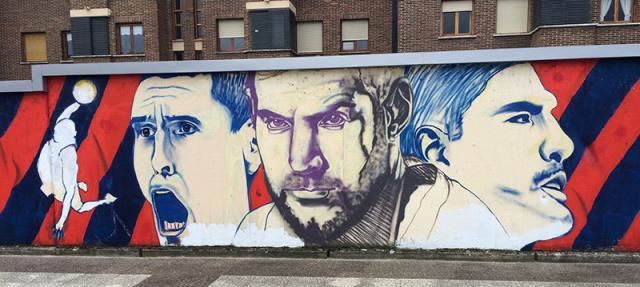 Uno de los graffitis que rinde homenaje a los jugadores baskonista (Foto: x-treme.es)