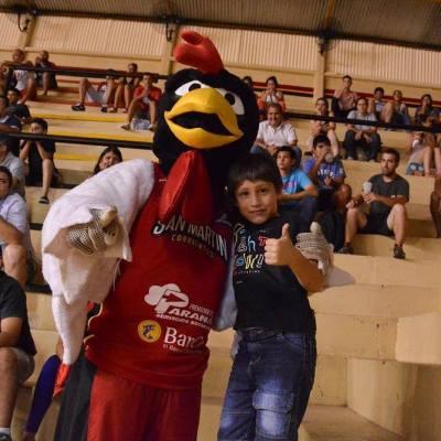El Gallo Tincho, mascota de San Martín (Foto: La Liga Contenidos)
