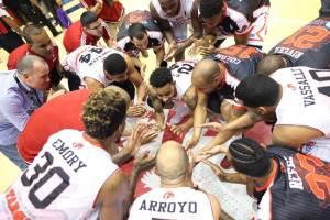 La celebración de Leones de Ponce (Foto: FIBA)